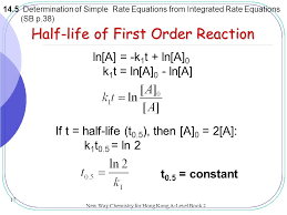 half life of first order reaction