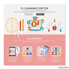 One Page Web Design Template With E Learning Services Like