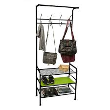 Coat And Shoe Rack Mind Reader Metal Coat Shoe Rack Shelving Organizer Black Free 45