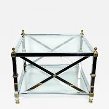 listings furniture tables center tables mid century modern art deco style two tiers glass cocktail table