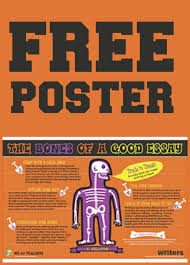 writers workshop poster how to write a good essay poster the bones of a good essay poster explains how to write an essay step