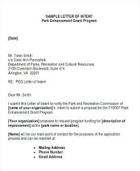 Letter Of Intent Example For Sponsorship Elegant Template