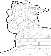 Santa Claus And Reindeer Coloring Pages Coloring Page Coloring Pages