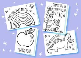Send your loved ones and well wishers one of our thank you cards to express your gratitude to them for being there when you needed them. Free Printable Teacher Thank You Cards 5 Minute Fun