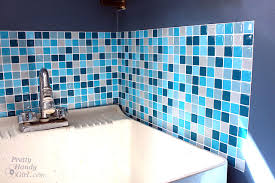 Installing Glass Mosaic Tile Backsplash Custom Smart Tiles Installation And Product Review Pretty Handy Girl