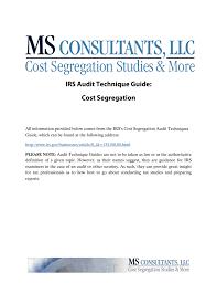 Cost Segregation Atg