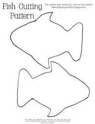 Simple Fish Outline Fish Template Simple Templates