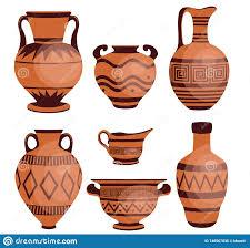 Grecian Pottery Designs Ancient Greek Vases Stock Vector Illustration Of Greek