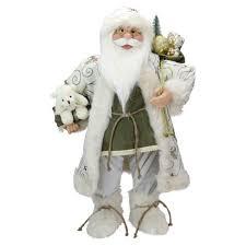 "Northlight <b>24</b>"" Green And White Graceful Standing <b>Santa Claus</b> ..."
