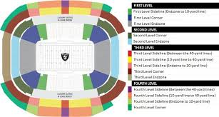 Oakland Raiders Seating Chart Las Vegas Raiders Seating Chart Allegiant Stadium Tickpick