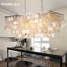 modern shell rectangle chandelier home capiz