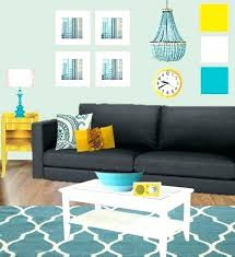 yellow and grey furniture. Grey Red And Brown Living Room With Teal Yellow We Could Think About Furniture
