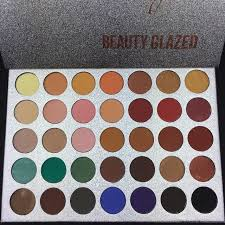 35 color shades face makeup eyeshadow palette highlighter glitter shimmer diamond waterproof pigment eye shadow by