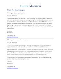 Sample Thank You Letter For Job Training Cover Letter