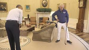 obama oval office. bill murray and president obama play golf in the oval office to promote obamacare