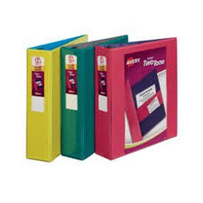 2in Binder Avery 17236 2 In Two Tone 3 Ring Binder Assorted