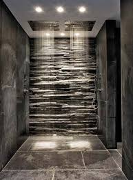 If you want to make a shower look cool and unique, create a rain shower