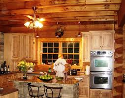 image of log cabin rustic track lighting