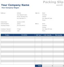 Sample Packing Slip Form Free Packing Slip Templates Invoiceberry