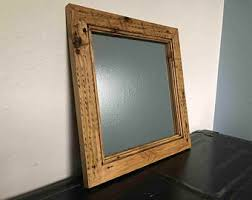 mirror frame. Reclaimed Wood Mirror Frame - Handcrafted Out Of Pine F