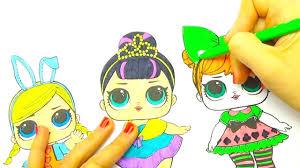 Раскраска куклы и сюрпирзы <b>ЛОЛ</b>, делаем новые наряды ...