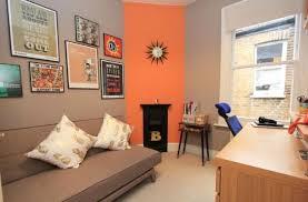 orange home office. Exellent Home Retro Styled Home Office For Orange Home Office H