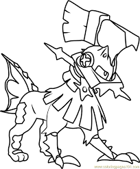 Small Picture Type Null Pokemon Sun and Moon Coloring Page Free Pokmon Sun