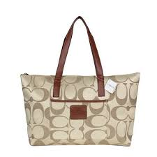 Latest Coach Legacy Logo In Monogram Medium Khaki Totes Bqa Sale qISUH