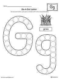 Do A Dot Letter G Worksheet