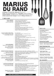 Creative Resume For A Person In The Food Hospitality Industry By