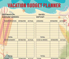 travel budget worksheet 36 travel budget templates vacation budget planners