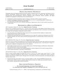 Sample Resume Experienced Electronics Engineer Inspirationa E Tc