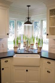 pendant lighting over sink. would love to recreate this for my own cornersinkwindow area light fixture plants farm sink redopaint cabinets pendant lighting over i