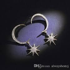 2019 vouge sparkly crystal diamante eardrop star moon dangle drop earrings gold silver ear studs women charm jewelry from alwaysbestzj 5 03 dhgate com