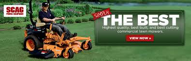 scag has the highest quality best built and best cutting commercial lawn mowers