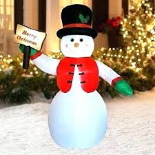 snowman inflatable ft yard waterproof lighted decor easy ornaments non outdoor decorations lawn metal deco