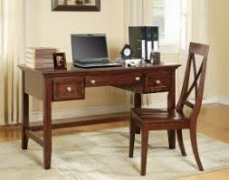 home office desks modern. cherry finish modern home office desk woptional chair desks