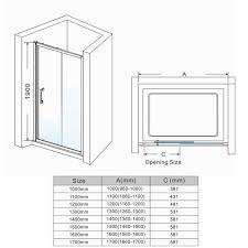 elegant sliding shower door enclosure walk in shower cubicle 8mm easy clean glass