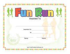 Fun Run Certificate Template Kleurplaten Kids Fun Run Certificate Template