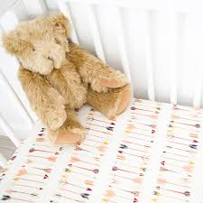 teddy bear crib sheet fitted crib sheet arrows panda hug