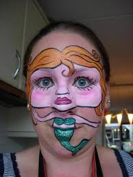 my entry for the mermaid face painting competition at face paint forum