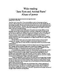 jane eyre and animal farm abuse of power gcse english  page 1 zoom in