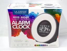 new la crosse technology color mood light alarm clock with nature sounds bid venues