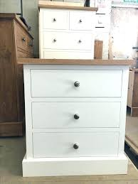 three drawer bedside table white 3 drawer bedside table 3 drawer bedside painted white with an oak top white gloss 3 drawer bedside table occasional two