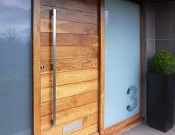 Inspiration Ideas Modern Front Door Pulls With The Wood Slats Of