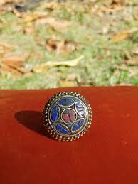 Mini Ranga Gold Red Blue Ring