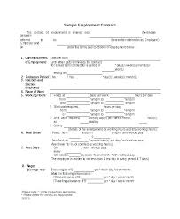 Temporary Employment Contract Template Short Term Contract Template