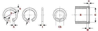 Internal Circlip Din 472 Metric Springmasters
