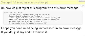 Pattern Synonym Unique 🇬🇧jack On Twitter Omg I'm An Error Message Now Tco