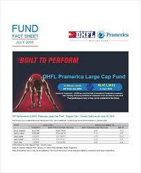 Mutual Fund Fact Sheet Template